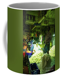 Coffee Mug featuring the photograph Flower Stalls Market Chennai India by Mike Reid