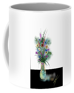 Coffee Mug featuring the digital art Flower Study One by Darren Cannell