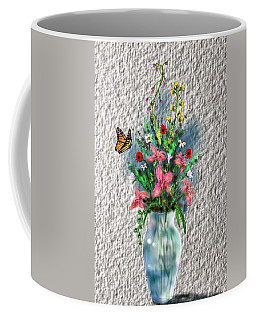 Coffee Mug featuring the digital art Flower Study Three by Darren Cannell