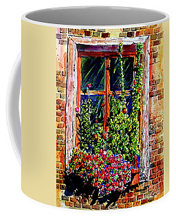 Flower Window Coffee Mug