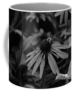 Bee Pollinating On A Cone Flower Coffee Mug