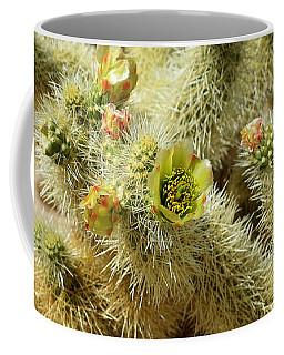 Flowering Cholla Cactus - Joshua Tree National Park Coffee Mug