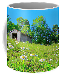 Flowering Hillside Meadow - View 2 Coffee Mug