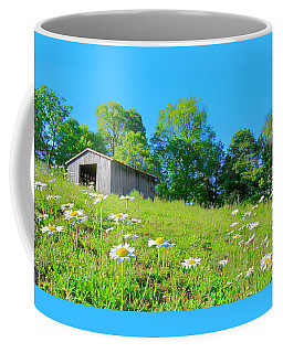 Flowering Hillside Meadow - View 2 Coffee Mug