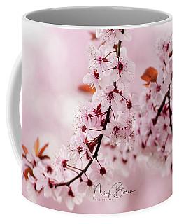 Flowering Plum Tree Macro Coffee Mug by Nick Boren