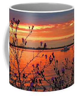 Flowers Along The Shore At Tibbetts Point  Coffee Mug