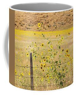 Flowers And Fence Coffee Mug