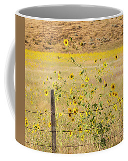 Flowers And Fence Coffee Mug