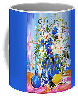 Flowers And Lemon Coffee Mug