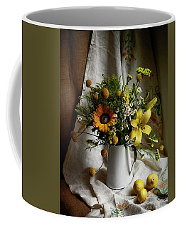 Flowers And Lemons Coffee Mug