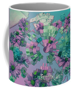 Coffee Mug featuring the photograph Flowers And Paper by Barbara Tristan