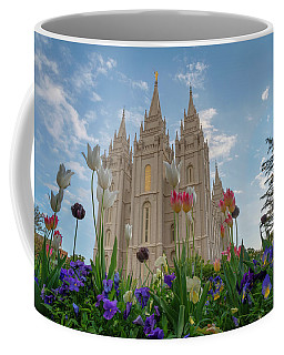 Flowers At Temple Square Coffee Mug