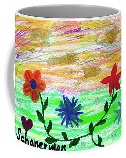 Flowers At The Shore Coffee Mug