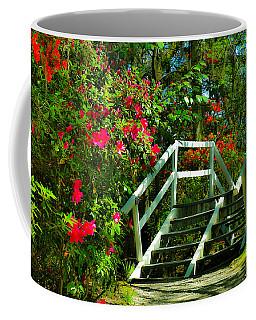 Flowers Bloom Alongside Magnolia Plantation Bridge - Charleston Sc Coffee Mug
