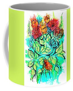 Flowers Bouquet, Illustration Coffee Mug