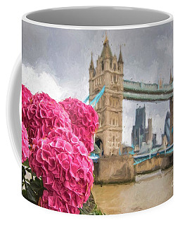 Flowers By The Bridge Coffee Mug