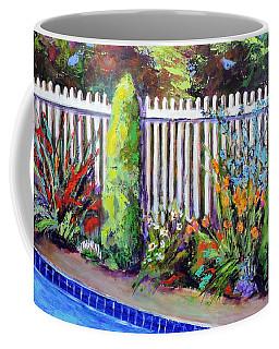 Flowers By The Pool Coffee Mug