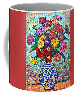 Flowers - Colorful Zinnias Bouquet Coffee Mug