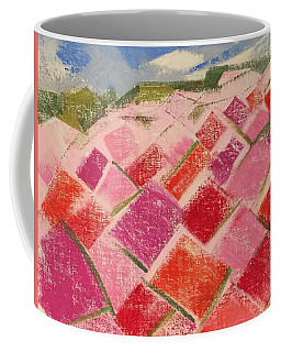 Coffee Mug featuring the pastel Flowers Fields by Norma Duch