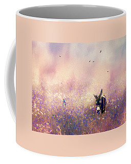 Coffee Mug featuring the photograph Flowers For Breakfast by Diane Schuster