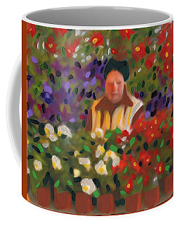 Coffee Mug featuring the painting Flowers For Sale by Deborah Boyd