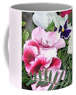 Coffee Mug featuring the photograph Flowers From The Heart by Jolanta Anna Karolska