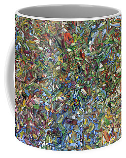 Coffee Mug featuring the painting Flowers In A Blue Vase by James W Johnson