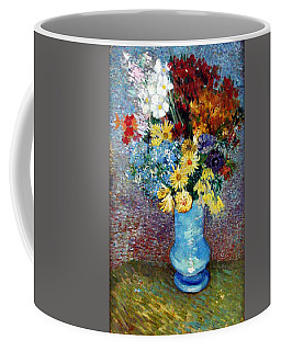 Coffee Mug featuring the painting Flowers In A Blue Vase  by Van Gogh