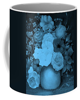 Flowers In Blue Coffee Mug