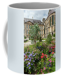 Flowers In Front Of The Cathedral In Reims Coffee Mug