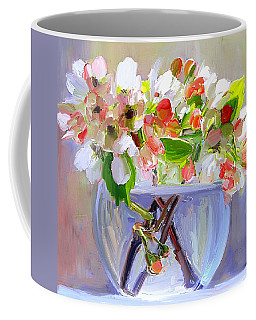 Flowers In Glass Bowl Coffee Mug
