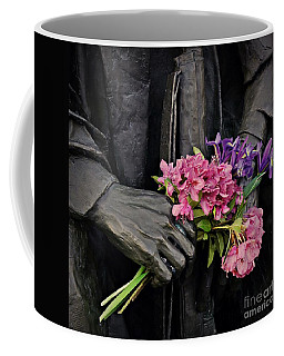 Coffee Mug featuring the photograph Flowers In The Hands by Patricia Strand