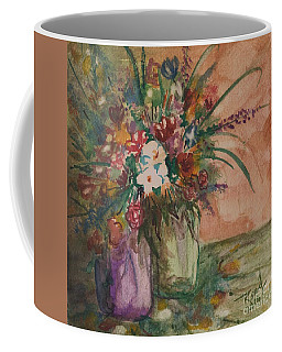 Coffee Mug featuring the painting Flowers In Vases 2 by Reed Novotny