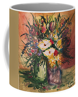 Coffee Mug featuring the painting Flowers In Vases by Reed Novotny
