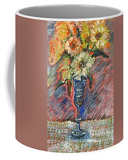 Flowers In Wine Glass Coffee Mug