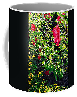 Flowers Of Bethany Beach - Hibiscus And Black-eyed Susams Coffee Mug