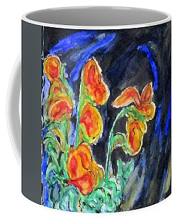 Coffee Mug featuring the mixed media Flowers Of Glass by Clyde J Kell