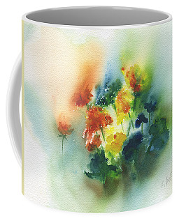 Coffee Mug featuring the painting Flowers Of Spring Abstract by Frank Bright