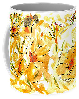 Flowers Of Yellow And Gold Coffee Mug