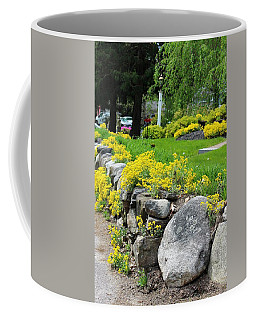 Flowers On The Wall Coffee Mug by Paul Meinerth