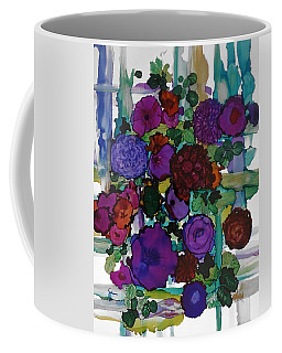 Flowers On Trellis Coffee Mug by Alika Kumar