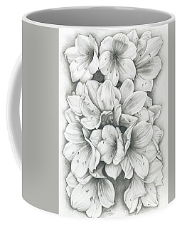 Coffee Mug featuring the drawing Clivia Flowers Pencil by Melinda Blackman