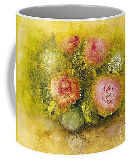 Flowers Pink Coffee Mug by Marlene Book