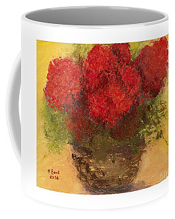 Flowers Red Coffee Mug by Marlene Book