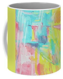 Flowers, Sky And Sun Coffee Mug