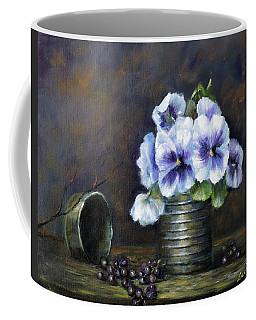 Flowers,pansies Still Life Coffee Mug