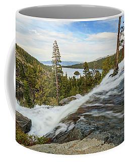 Flowing Rage Of Spring Atop Lower Eagle Falls Coffee Mug