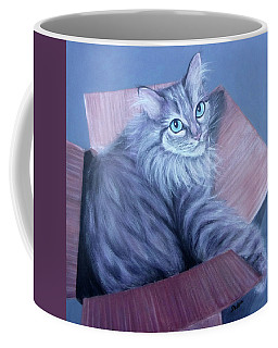 Fluff-in-the-box Coffee Mug by Susan DeLain
