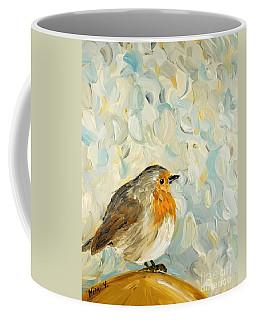 Fluffy Bird In Snow Coffee Mug