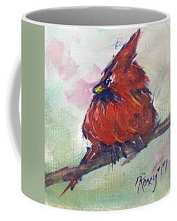 Fluffy Cardinal Chick Coffee Mug